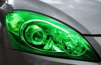 Зеленая тонировочная пленка для оптики авто Vissbon