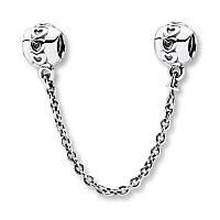 Соединительная цепочка «Сердечки» из серебра Pandora, 791088