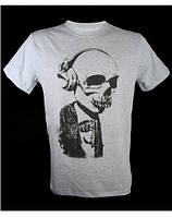 Качественная мужская футболка SKULL IN HEADPHONES