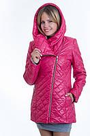 Куртка косуха женская демисезонная малиновая №14 WW 42-52 размеры