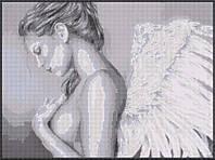 """Схема для вышивки бисером """"Ангел"""" , монохром"""