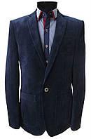 Мужской пиджак  № 53 вельвет синий