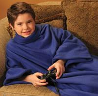 Плед, одеяло с рукавами SNUGGIE Детский, плед халат Снагги.