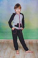 Костюм спортивный детский черный, фото 1
