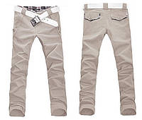 Мужские брюки штаны YhHomme бежевые