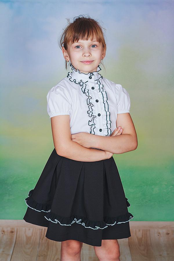 Детская Блузка С Жабо