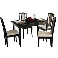 Комплект Джулия (стол+4 стула) венге/BELEN беж