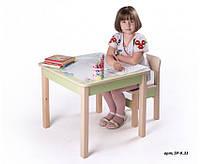 Стол и стульчик детские для рисования (зеленый)