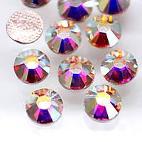 Кристаллы Swarovski(Hotfix).Crystal AB ss8(2,3-2,5mm).Цена за 100шт