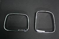 Накладки на обводку зеркал хром Volkswagen Caddy 2004-2010 г.в. ABS пластик