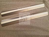 Защитные хром накладки на пороги Opel vivaro (опель виваро 2001+)