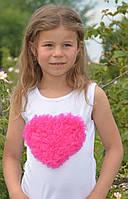 Майка с малиновым сердцем под пышную юбку pettiskirt