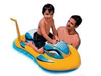 Настоящая радость для малышей – надувной скутер 56535, ТМ Интекс, яркий, красочный, 114*69см