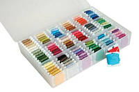 Коробка -органайзер для хранения мулине ДМС + 50 бобин