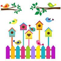 Виниловая наклейка Детская на стену Птички