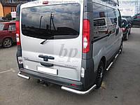 Защита заднего бампера (задний отбойник-углы) Opel vivaro (опель виваро 2001+)