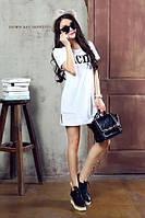 Платье-футболка белое