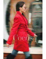 Пальто кашемировое красное