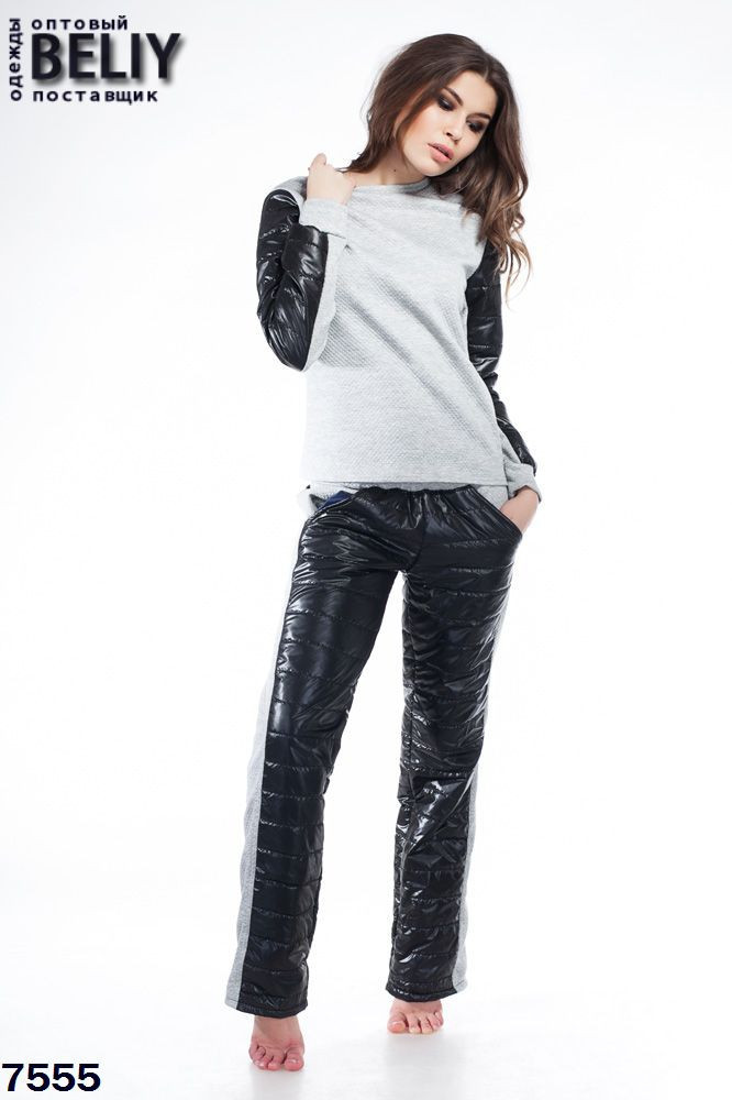 Женский костюм черно белый доставка