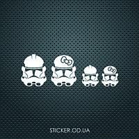 """Наклейка на авто """"Star wars troopers family"""""""
