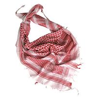 Арафатка - шемаг (белый с красным)