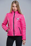 Женская розовая куртка демисезонная №5 WW 42-48 размеры