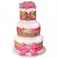 Торт из подгузников Little Princess Маленькая Принцесса