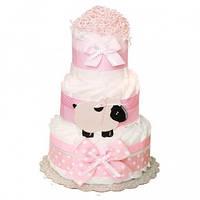 Торт из подгузников Pink Sheep Розовая Овца