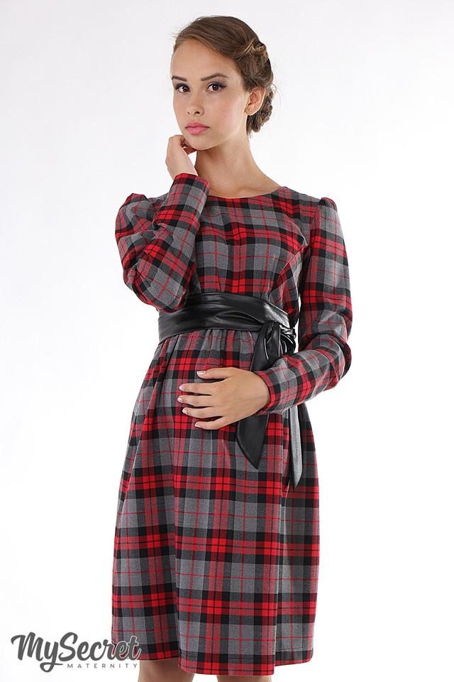 Платье для беременных в клетку