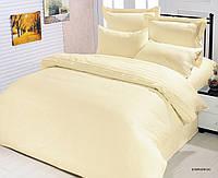 Кремовое постельное белье le vele из жаккардового сатина