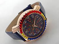 Часы женские с символикой Украины, вишиванка, вышиванка