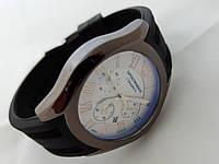 Мужские часы Emporio Armani ceramic цвет корпуса графит, светлый циферблат