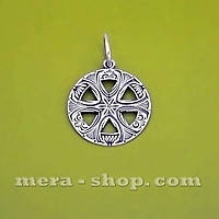 Символ Перуна Громовержца серебряный кулон-оберег