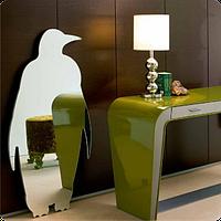 Зеркало оригинальное Пингвин 21см х 40см