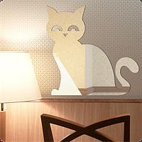 Зеркало оригинальное Сивмский кот 30см х 30см