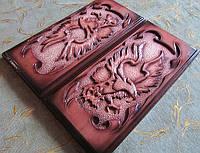 Сувенирные резные нарды с орлом