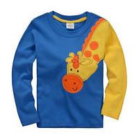 """Кофточка детская """"Жираф"""" на мальчика/ 100% хлопок/ жёлто-голубая/ 92см, 122см (1.5-2 года, 6-7 лет)"""