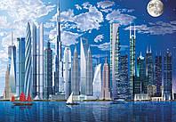 Фотообои: Город будущего, 366х254 см, 8 частей