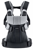 Рюкзак-кенгуру BabyBjorn One Black/silver, cotton