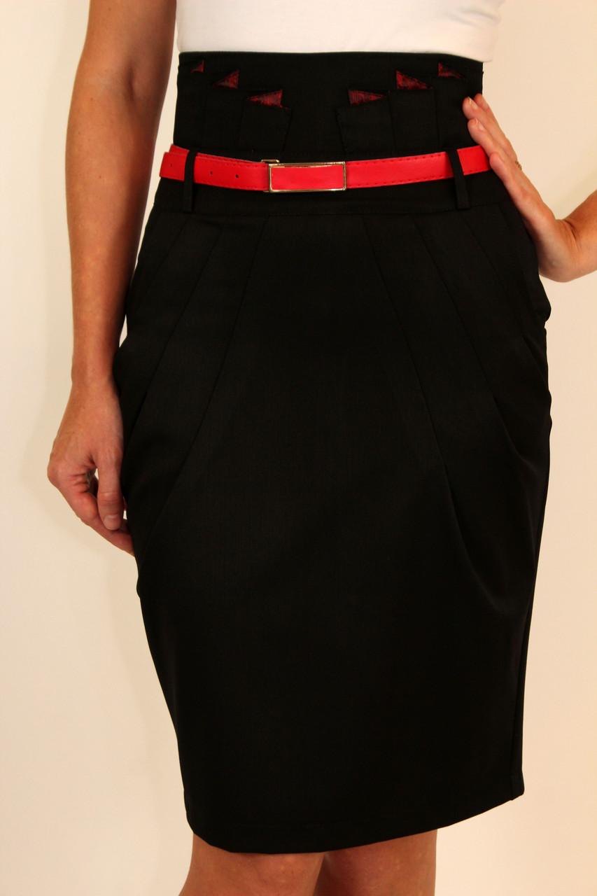Модели юбок с высокой талией фото