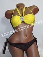 Женский купальник Teres 2083D-6 жёлтый со съёмными лямками