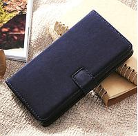 [ Samsung Galaxy Note 3 N9000 ] Кожаный чехол-книжка для телефона Самсунг синий