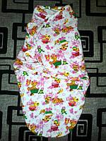Пеленка-кокон на липучках  теплая 3-6 мес (конверт для сна)