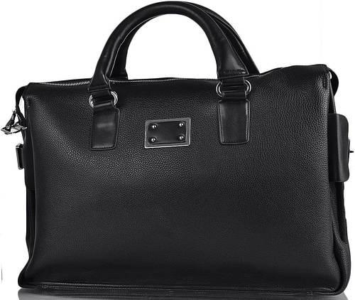 Саквояж дорожный кожаный 25 л. Quality Feshion (Кволити Фэшн) DS621 черный