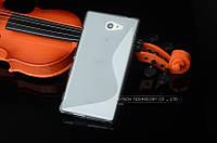 Силиконовый чехол Duotone для Sony M2 Aqua D2403 серый