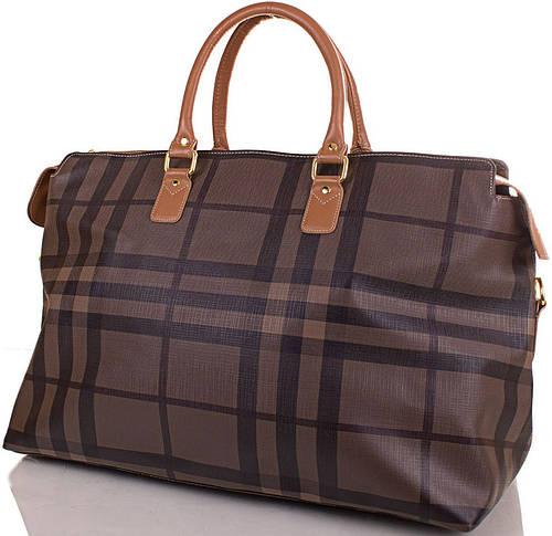 Дорожная сумка 34 л. из каучука REFIAND (РИФЭНД) W89805-kletka коричневая клетка