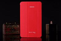 [ Samsung Galaxy Tab 4 8.0 Т330 Т331 Т335 ] Кожаный чехол-книжка для планшета Самсунг красный