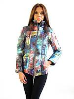Женская курточка из принтованной плащёвки высокого качества, фото 1
