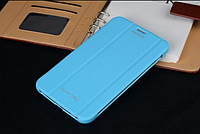 "[ Samsung Galaxy Tab 3 7.0"" T110 T111 ] Чехол-книжка для планшета Самсунг голубой"