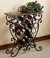 Подставка-столик для вина кованая -100.